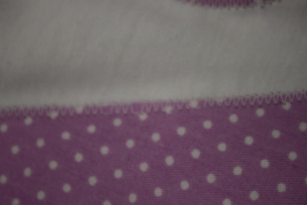Close Up of White Shirt Stitching