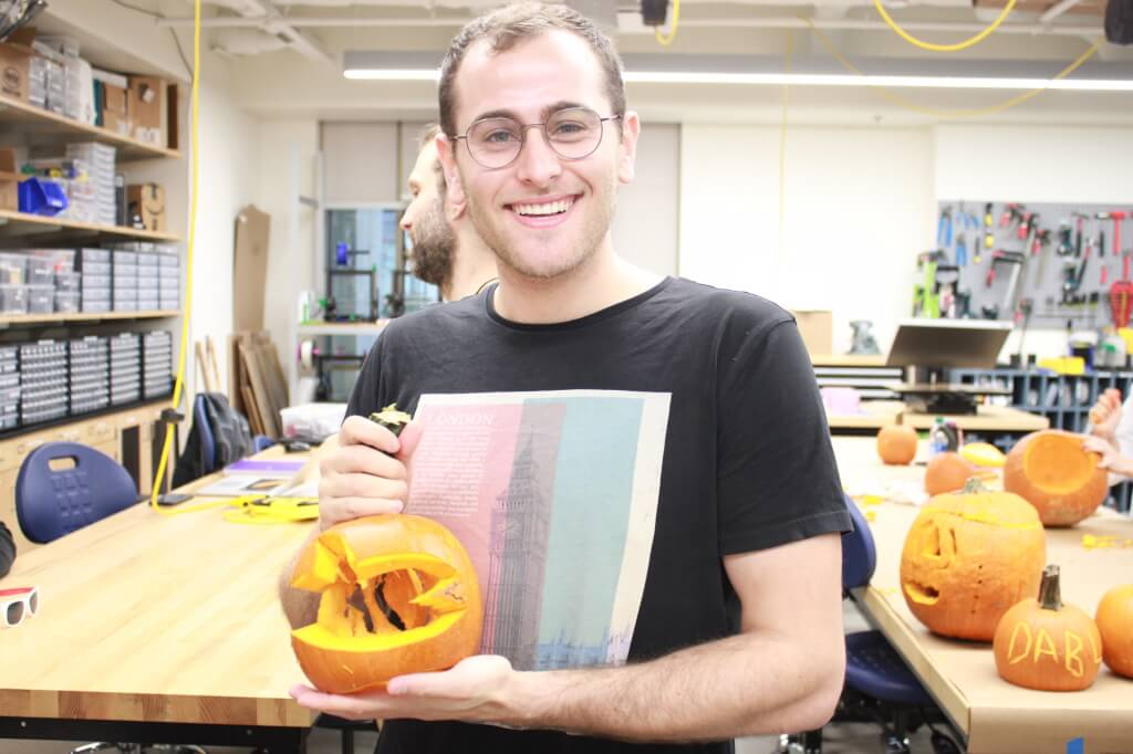 One of DaBL's students with pumpkin