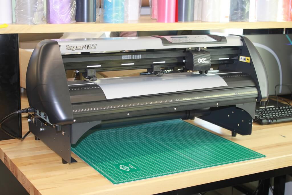 The vinyl cutter machine.