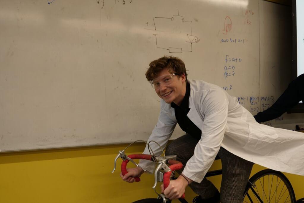 Christian on a bike